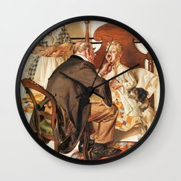 Joseph Christian Leyendecker - Hospital Bed - Digital Remastered Edition Wall Clock