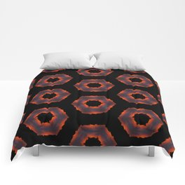 Fiery Red & Orange Circles Comforters