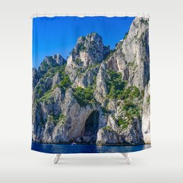 The White Grotto of the island of Capri, Italy off Naples and the Amalfi Coast Shower Curtain