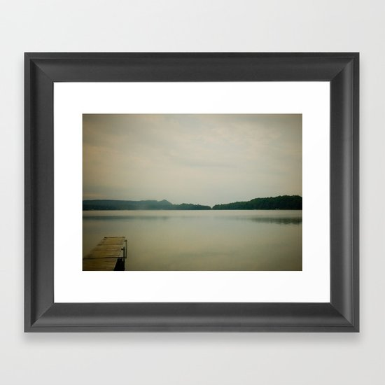 Herring Lake Dock Framed Art Print