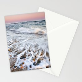 Waves At The Beach. Marbella. At sunset Stationery Cards
