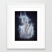 nightmare Framed Art Prints featuring Nightmare by Kryseis Retouche