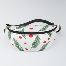 Tossed Fir Branches and Berries Fanny Pack