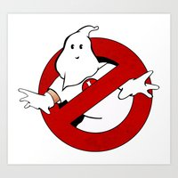 ghost busters Art Prints featuring kkk Busters by Komrod