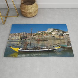 Port wine barges on the Douro, Porto Rug
