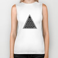 triangle Biker Tanks featuring Triangle by Emmanuelle Ly