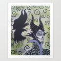 Maleficent Sugar Skull by kittyog