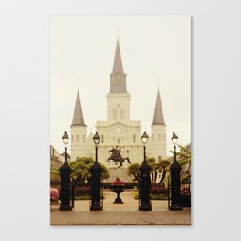 New Orleans Looking Through Jackson Square Canvas Print