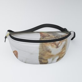 Cat by Pocky Lee Fanny Pack