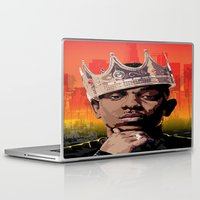 kendrick lamar Laptop & iPad Skins featuring King Kendrick by Tecnificent