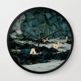 "Woodblock Series, ""Paradise II"" Wall Clock"