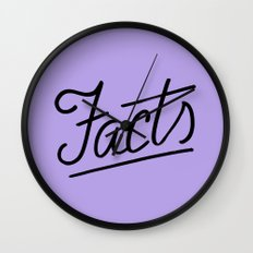 Facts Wall Clock