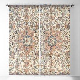Fine Persia Tabriz Old Century Authentic Colorful Blue Rust Orange Vintage Patterns Blackout Curtain