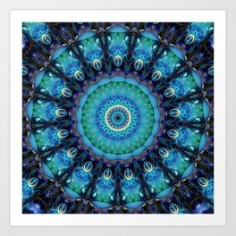 Jewel Of The Ocean Mandala Art Print