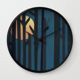 Breaking Through Wall Clock