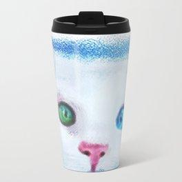 cat in chalk Travel Mug