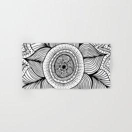 Doodle Flower Hand & Bath Towel