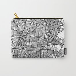Mexico City Map White Carry-All Pouch