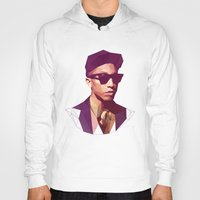 hip hop Hoodies featuring Hip hop poly by Breno Bitencourt