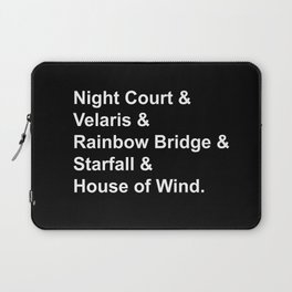 Night Court Places Laptop Sleeve