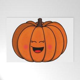 The happy pumpkin Welcome Mat