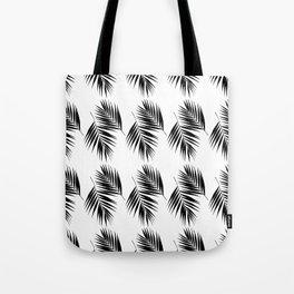 Palm Leaves Pattern #12 #Black #White #decor #art #society6 Tote Bag