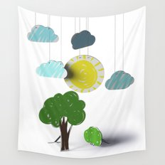 Sunny Day 3D Paper Craft Wall Tapestry