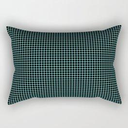 Neon Aqua Optical Illusion Grid Rectangular Pillow