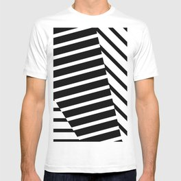 Abstract Striped Triangles T-shirt