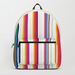 Colorful Stripes Barcode 80s Backpack