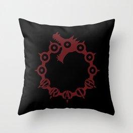The Dragon's Sin of Wrath Throw Pillow