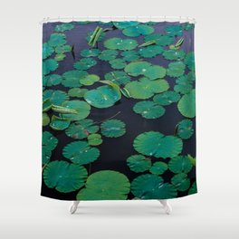 Temple Lilypond Shower Curtain