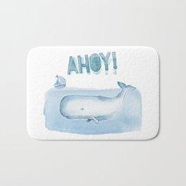 Ahoy! from a Sperm Whale Bath Mat