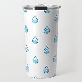 Water Drop Pattern Ang Travel Mug