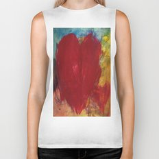 Blood Red Love Biker Tank
