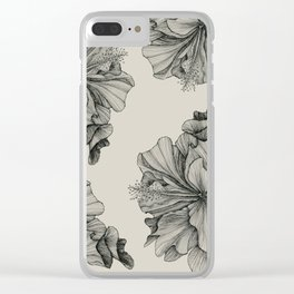 flor pattern Clear iPhone Case