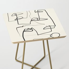 Abstract line art 12 Side Table