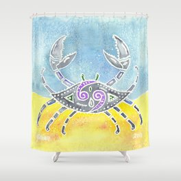 Zodiac Collection: Cancer Shower Curtain