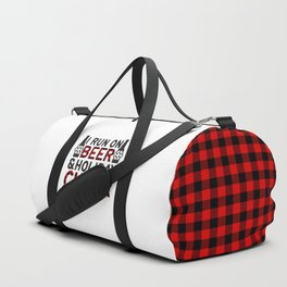 I Run On Beer & Holiday Cheer, Funny, Quote Duffle Bag