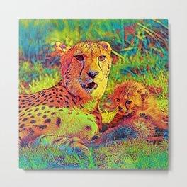 AnimalColor Cheetah 025 Metal Print