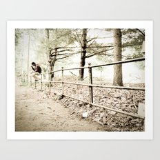 On the Fence Art Print