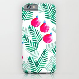 Festive Bells Illustration // Christmas Cards // Holiday gift iPhone Case