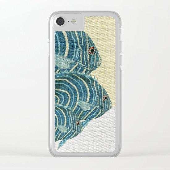 Fish Classic Designs 9 Clear iPhone Case