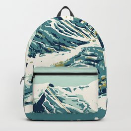 2021 Ski Stowe Vermont Vintage Poster  Backpack