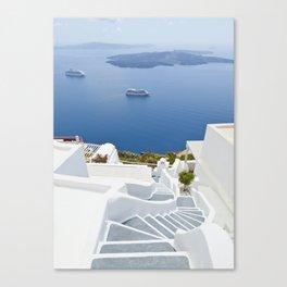 The Perfect Santorini Life Canvas Print