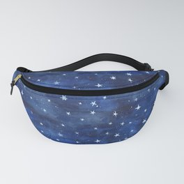 Midnight Stars Night Watercolor Painting by Robayre Fanny Pack