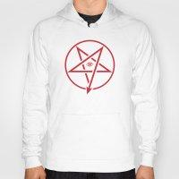 pentagram Hoodies featuring Adversary Pentagram by Divine Mania