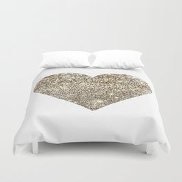 Gold Heart-65 Duvet Cover