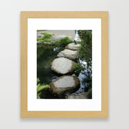 steps across the water Framed Art Print
