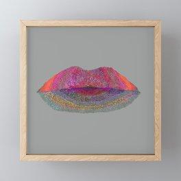 flowered lips 2 Framed Mini Art Print